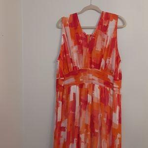 Calvin Klein Womens Plus Size Tiered Maxi Dress